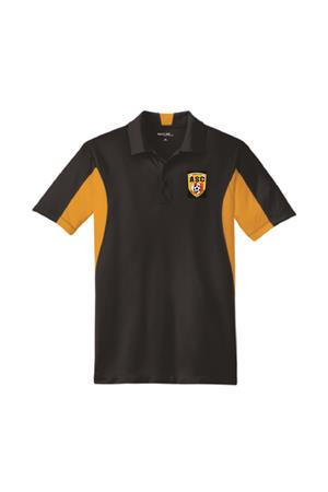 Amity Sport-Tek Side Blocked Micropique Sport-Wick Polo Black/Gold Image